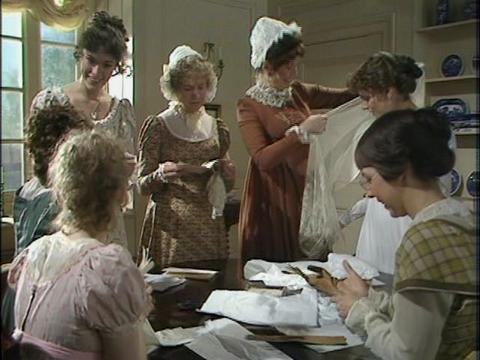 Mrs Gardner (Barbara Shelley), Mrs Bennet (Priscilla Morgan) and