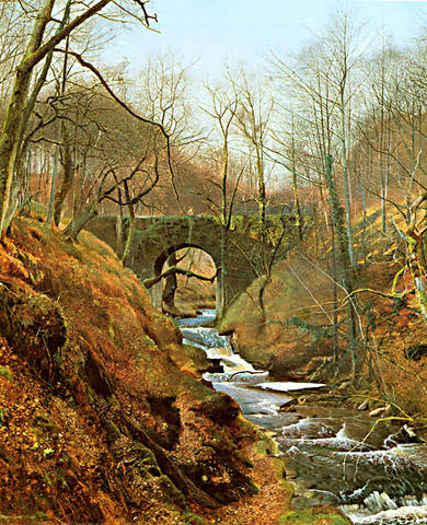 of a bridge in a rural Yorkshire on an early spring morning in 1867: