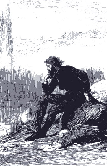"""Trevelyan at Casalunga"", Marcus Stone illustration for He Knew He Was Right, Chapter 84"